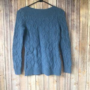 Ann Taylor Loft Blue Knit Sweater Size S